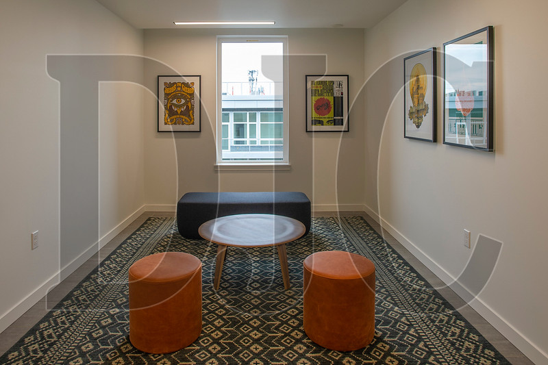 Small communal spaces are included on each floor. (Josh Kulla/DJC)