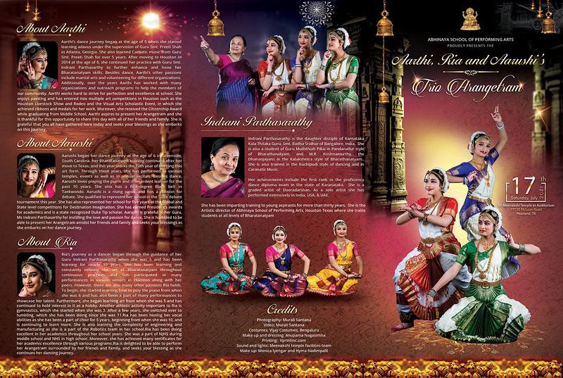 Aarthi, Ria, and Aarushi's Bharatanatyam Arangetram 2021