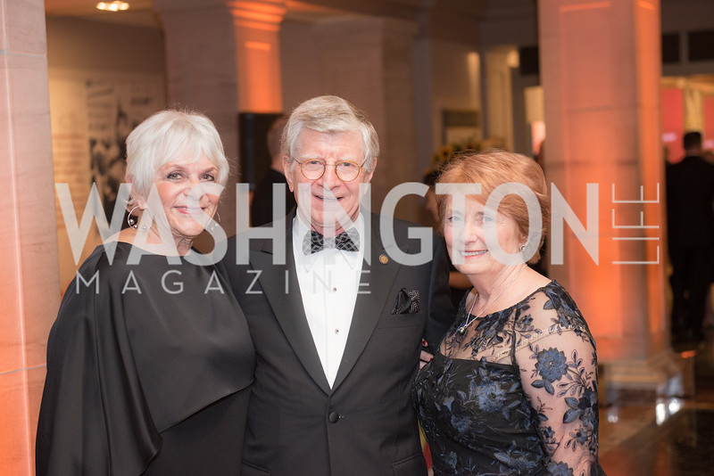 Zina Kramer, Peter Cuneo, Meris Cuneo,  National Archives Foundation, Records of Achievement Gala, Honoring First Lady Laura Bush.  October 10, 2018.  Photo by Ben Droz.