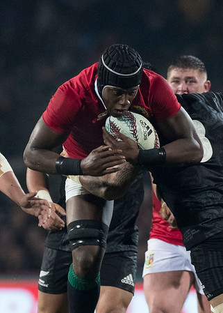 Maro Itoje during game 5 of the British and Irish Lions 2017 Tour of New Zealand,The match between  The Maori All Blacks and British and Irish Lions, Rotorua International Stadium, Rotorua, Saturday 17th June 2017 (Photo by Kevin Booth Steve Haag Sports)  Images for social media must have consent from Steve Haag