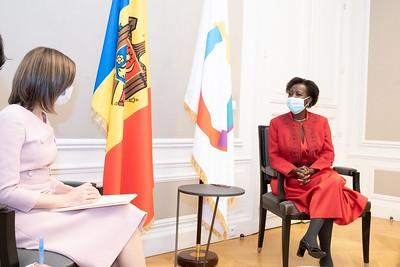 SEMme Maia SANDU, Présidente de la Moldavie - Paris