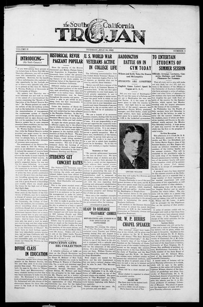 The Southern California Trojan, Vol. 2, No. 2, July 10, 1923