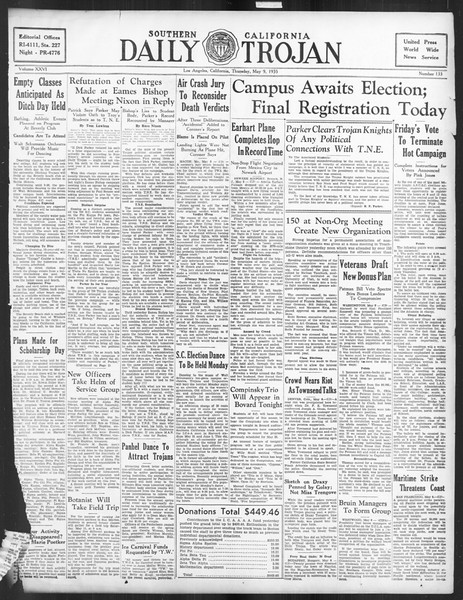 Daily Trojan, Vol. 26, No. 133, May 09, 1935