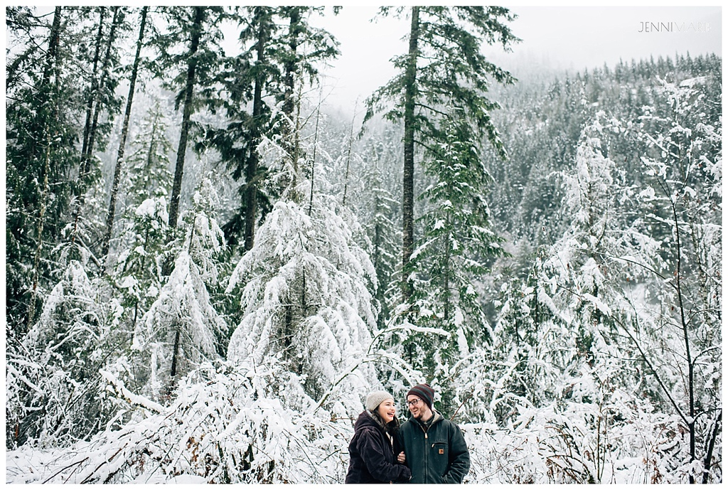 Chilliwack Snow Engagement Photos