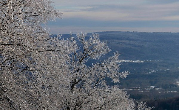 Ice-covered views atop Bousquet Mountain-010220