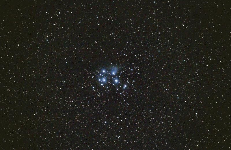 M45 Pleiades - 25/08/2020 (Processed stack)