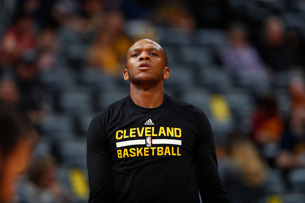 . Cleveland Cavaliers guard James Jones (1) in the first half of an NBA basketball game Wednesday, March 22, 2017, in Denver. (AP Photo/David Zalubowski)