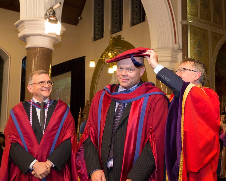 28/10/2015 Conferring at Waterford Institute of Technology, Mark White from Waterford receiving his Doctor of Philosophy. Photo; Mary Browne