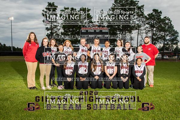 2020 Gilbert B-Team Softball Team and Individuals