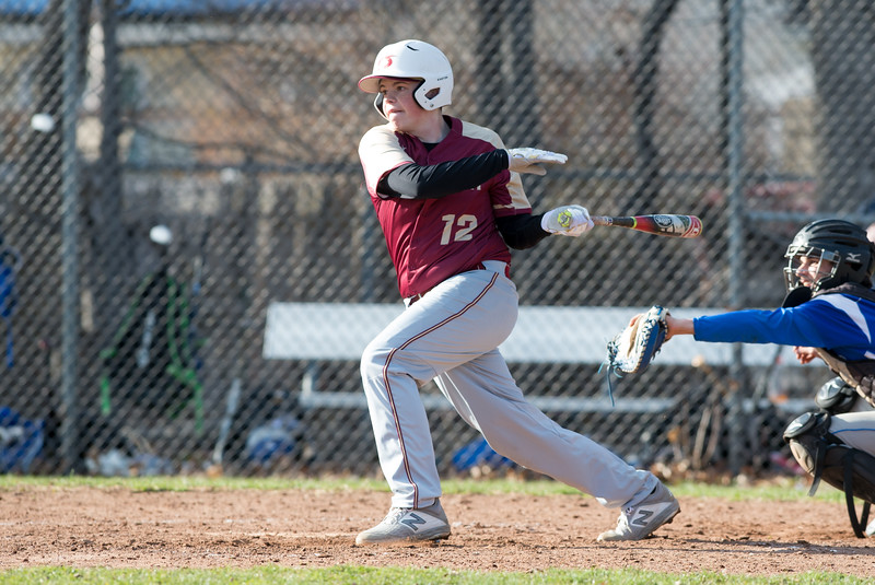 04/10/19  Wesley Bunnell   Staff  Bristol Eastern baseball defeated New Britain in a home game on Wednesday afternoon. Chris Gibbs (12) grounds to short for the final out of the game.