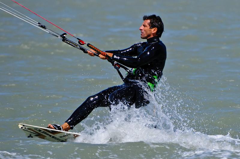 Kite Surfing off Sanibel Causeway