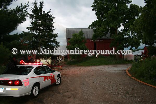 6/23/10 - Mason barn fire, 5351 W. Columbia