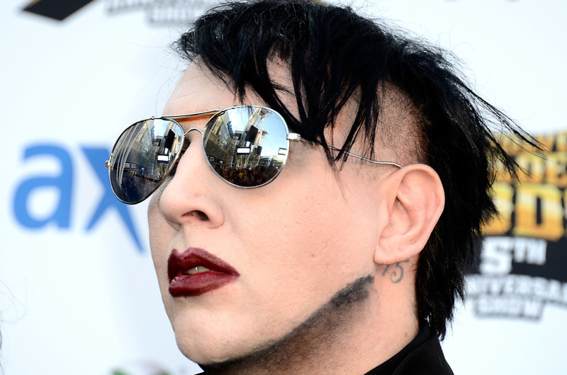. Musicians Marilyn Manson arrives at the 5th Annual Revolver Golden Gods Award Show  at Club Nokia on May 2, 2013 in Los Angeles, California.  (Photo by Frazer Harrison/Getty Images)