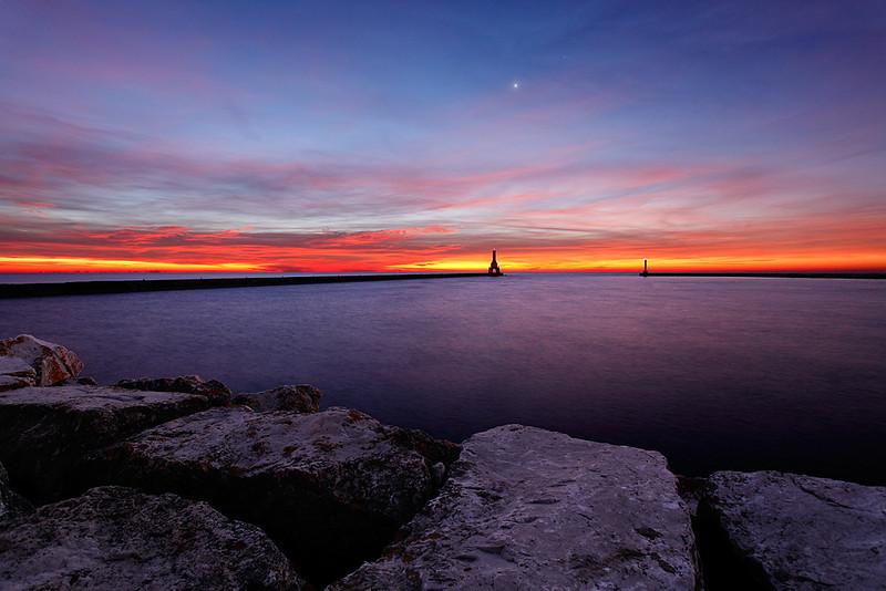 Shining Light - Port Washington Pierhead Lighthouse (Port Washington, WI)