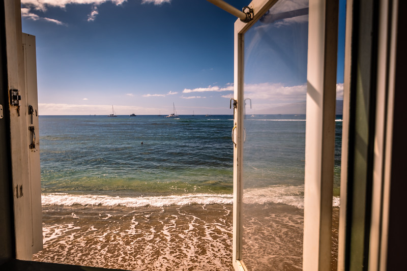View from a lunch restaurant in Lahaina
