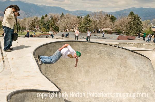 Skateboarding and Freestyliing