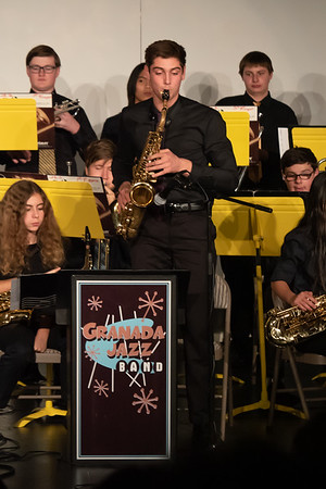 181212 GHS JAZZ BAND CONCERT WITH MENDENHALL BAND