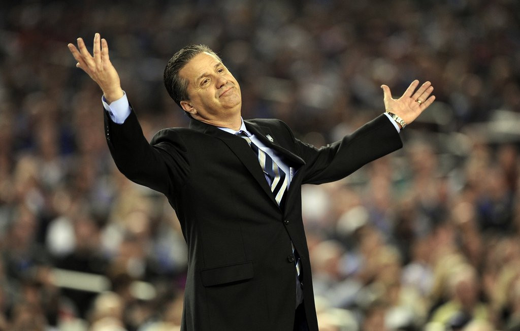 ". <p>10. (tie) KENTUCKY WILDCATS <p>John Calipari probably staying, because UK has more NBA quality players than Lakers. (2) <p><b><a href=\'http://www.forbes.com/sites/chrissmith/2014/04/07/kentucky-coach-john-calipari-has-37500-on-the-line-in-ncaa-title-game/\' target=""_blank\""> HUH?</a></b> <p>    (Stephen Dunn/Hartford Courant/MCT)"