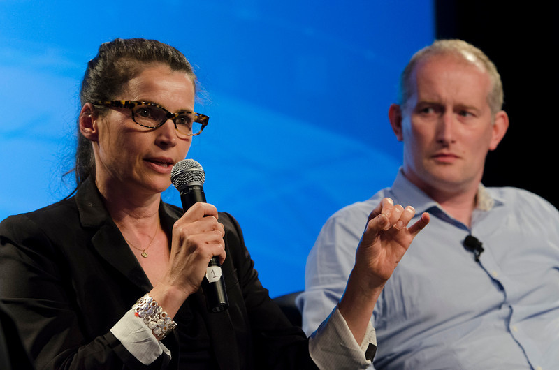 """Technology Addresses Human Trafficking: A New Global Rescue System"": Actress Julia Ormond, Founder/President, Alliance to Stop Slavery and End Trafficking (ASSET); and Andrew Wallis, Founder and CEO, unseen.  May 22-25, 2012: At the Montage in Laguna Beach, CA, 200 thought leaders - high technology engineers and executives, entrepreneurs, scientists, and media professionals - gathered for 3 days to participate in FiRe X, the 10th annual Future in Review conference, presented by the Strategic News Service and led by SNS founder and technology visionary Mark Anderson. Interviews, panel discussions, and informal conversations ranged from IP protection to CO2 and climate change, new healthcare paradigms, global economics, ocean toxins, robotics, documentary filmmaking,  medical diagnostics, technology solutions for social issues, global economics, mobile computing, and tech solutions to human trafficking and aging with dignity."
