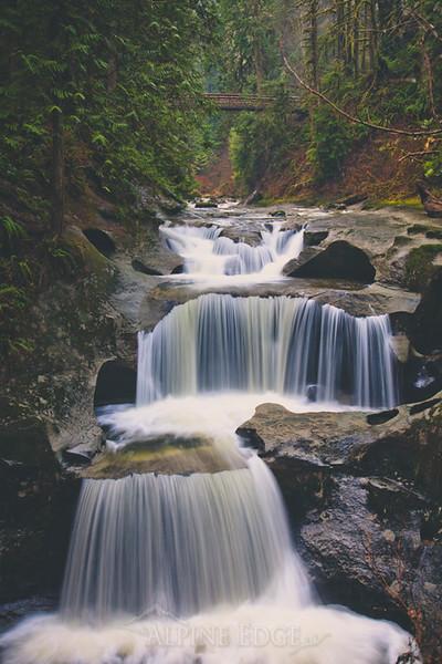 Cliff Falls in Kanaka Creek Regional Park.