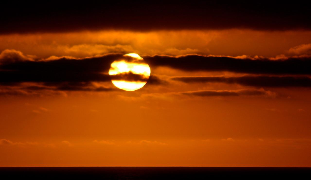 Spooky Ocean Sunset