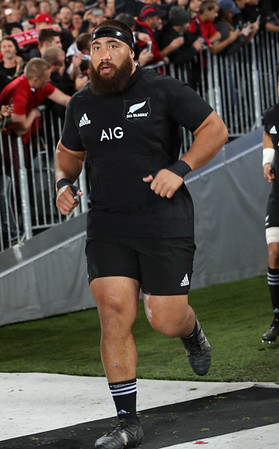 Charlie Faumuina   during game 10 of the British and Irish Lions 2017 Tour of New Zealand, the third Test match between  The All Blacks and British and Irish Lions, Eden Park, Auckland, Saturday 8th July 2017 (Photo by Kevin Booth Steve Haag Sports)  Images for social media must have consent from Steve Haag