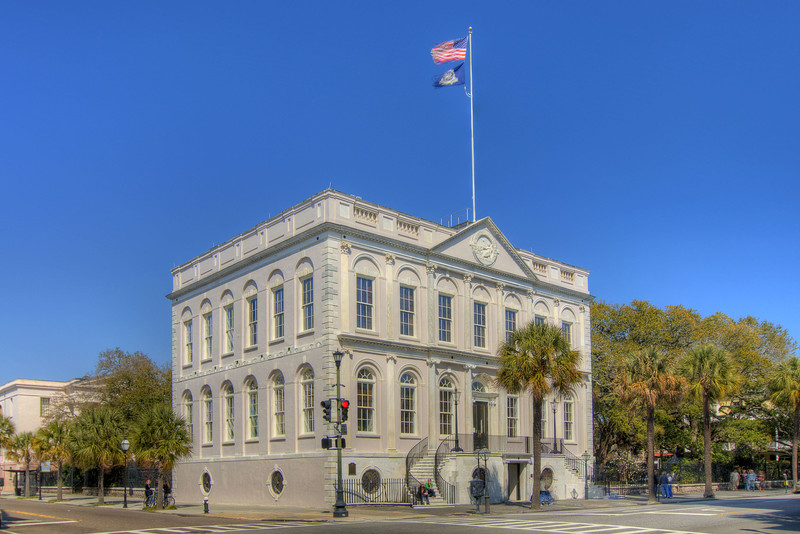 City Hall, built in 1801, is home to the oldest continuously used council chambers in America, located at 80 Broad Street in downtown Charleston, SC on Saturday, March 9, 2013. Copyright 2013 Jason Barnette