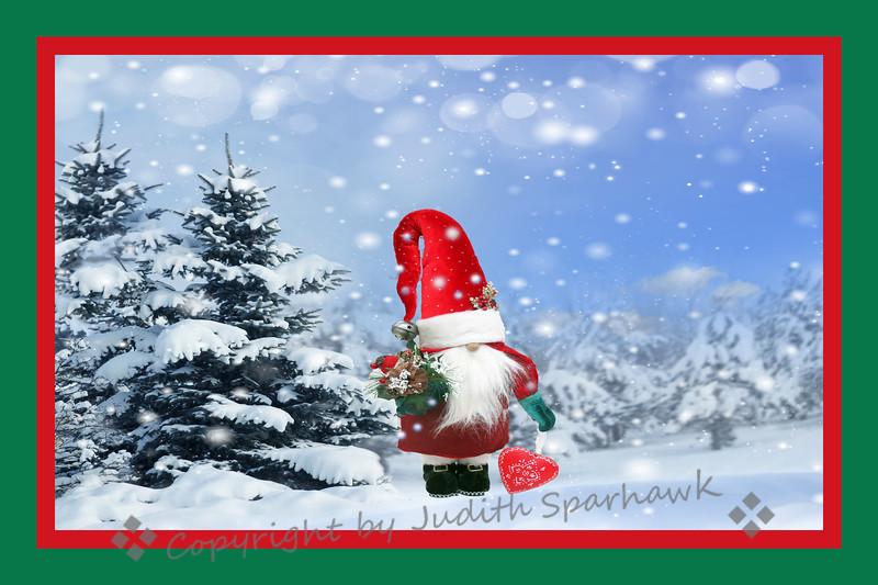 Santa in the Snow - Judith Sparhawk