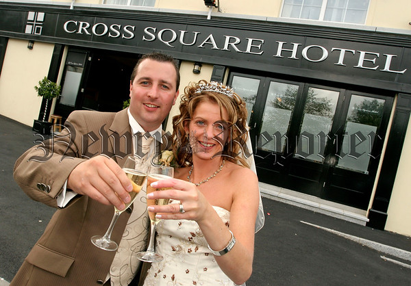 First Wedding in Cross Square Hotel (opened in March) on Saturday last, Eoin Mc Cambridge (Ballymena) and Karen Rogers,(local girl from Loughross), the  Carragher family managment and staff would like to to thank Karen and Eoin for choosing the hotel as their wedding venue and wish them every happiness in their married life togeather.06W35N12