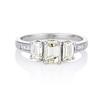 1.15ctw Emerald Cut Diamond Trilogy Ring 0