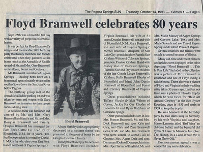 Floyd Bramwell's 80th BD