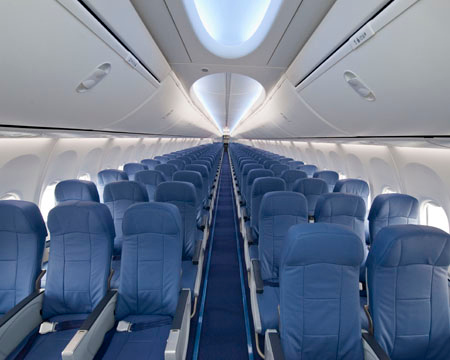 737-900ER with New Boeing Sky Interior, photo courtesy of Boeing