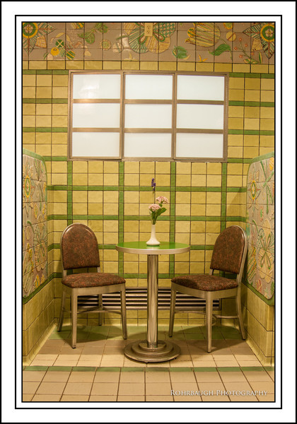 Booth in Ice Cream Parlor (tiled in Rookwood tile)