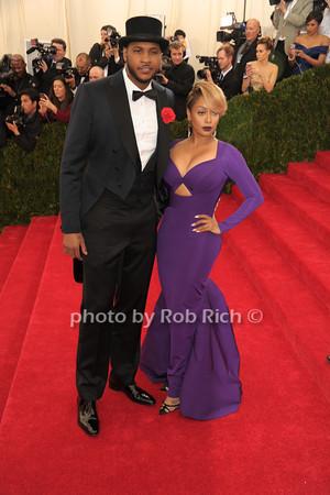 Carmelo Anthony and LaLa Anthony photo by Rob Rich © 2014 robwayne1@aol.com 516-676-3939