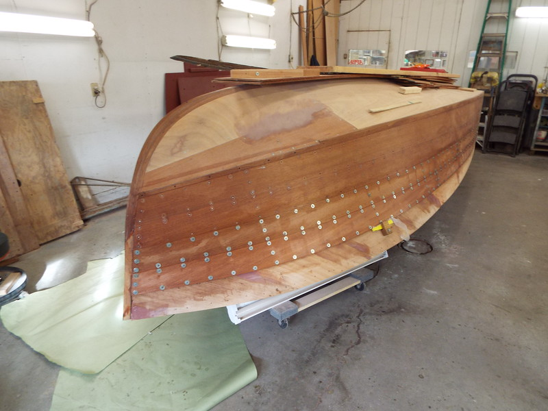 Starboard front with new planks installed.
