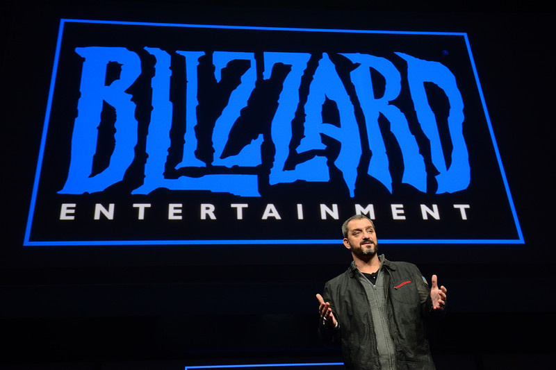 . Christopher Vincent Metzen of Blizzard Entertainment talks as Sony introduces the PlayStation 4 at a news conference February 20, 2013 in New York.  EMMANUEL DUNAND/AFP/Getty Images