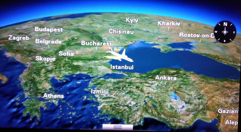 Enroute to Doha