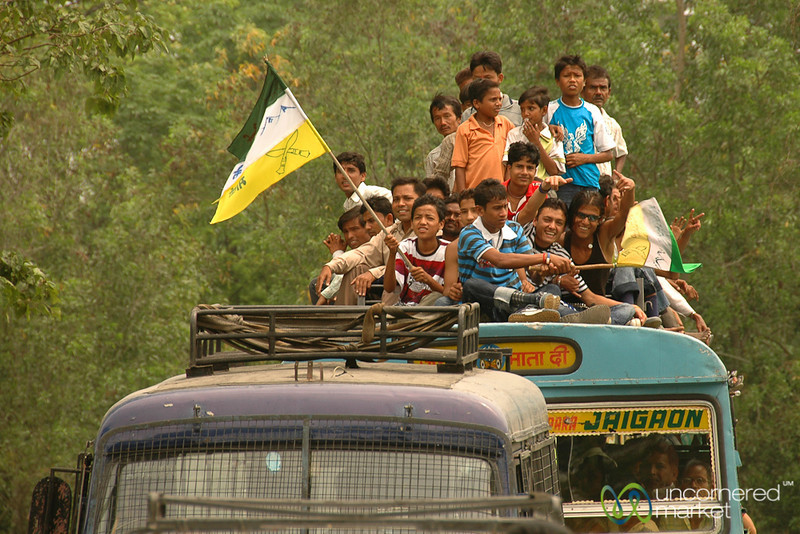 Taking the Bus to a Rally -