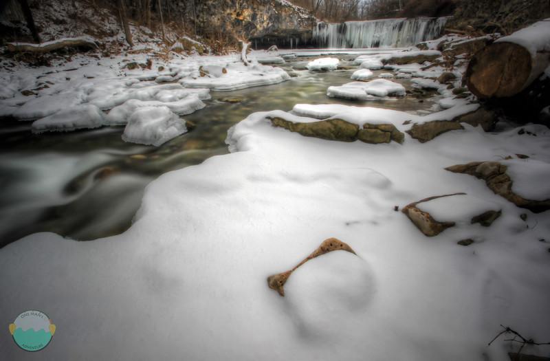 Ludlow Falls<br /> A winter wonderland below the partially frozen Ludlow Falls.