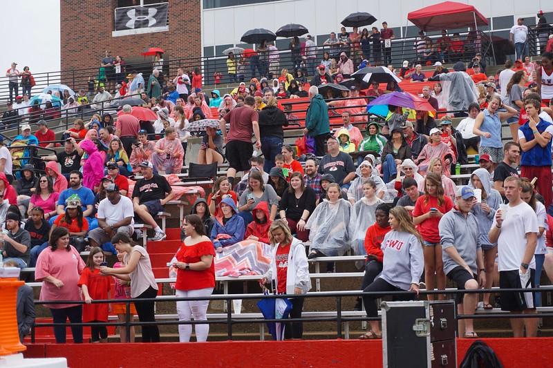 Rain or shine, these students love their team!