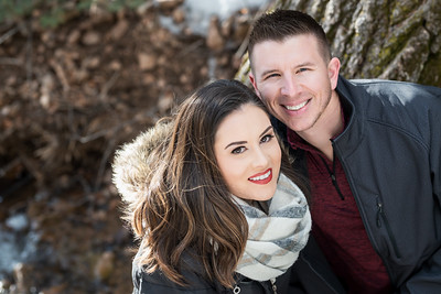 Santa Fe Mountains Snowy Winter Engagement