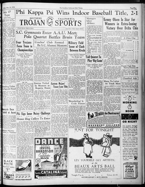 Daily Trojan, Vol. 25, No. 138, May 18, 1934