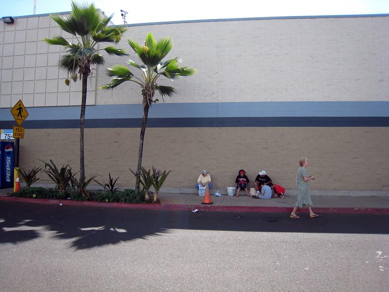 Waiting for Walmart Shuttle