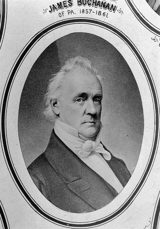 . James Buchanan, 15th U.S. President, is shown in an undated portrait.  Buchanan was elected president in 1857 and served in 1857 and served in office until 1861.  (AP Photo)