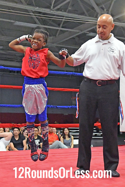 Bout 5 Yu'Shore Williams, Red Gloves, Toledo P.A.L. -vs-Deshaun Carter, Blue Gloves, Bar None BC, 65 Lbs, PeeWee