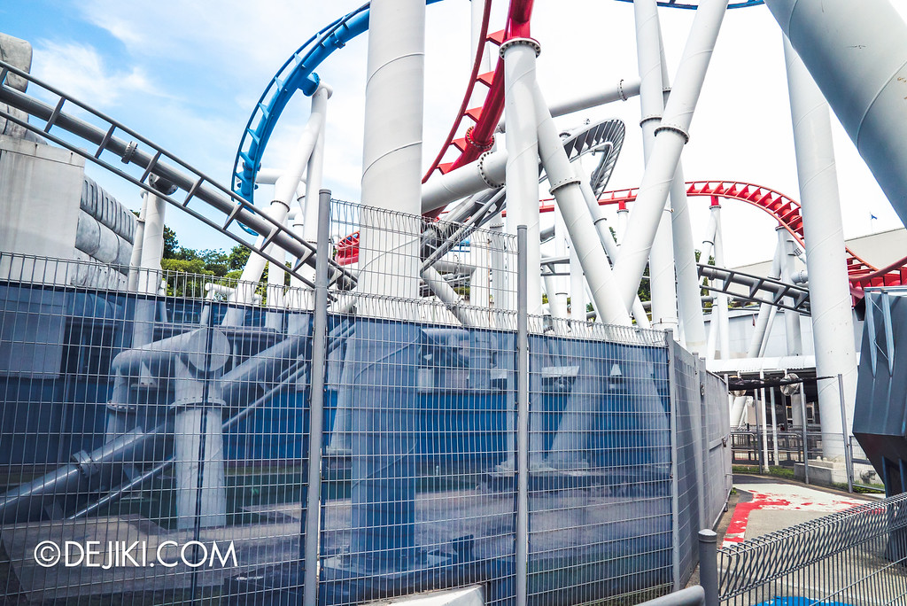 Universal Studios Singapore - Park Update September 2016 / Battlestar Galactica grey section