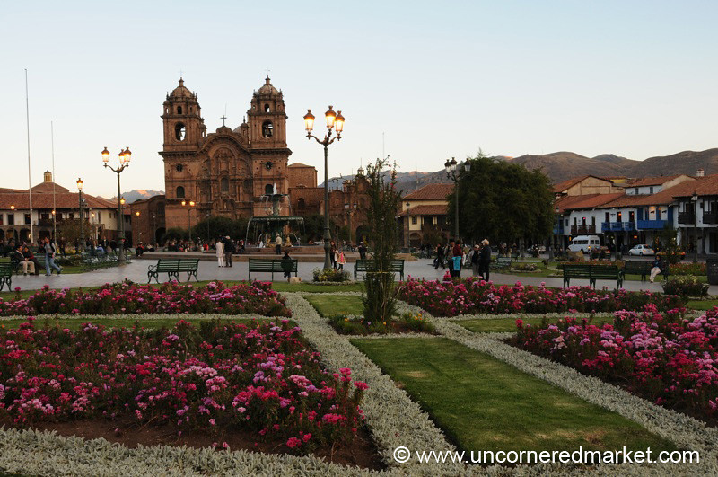 Plaza de Armas at Dusk - Cusco, Peru