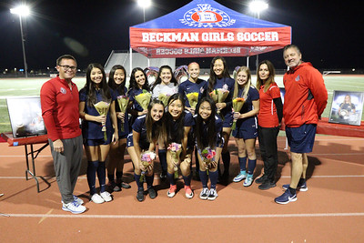 Beckman Senior Night vs Irvine 01.23.19