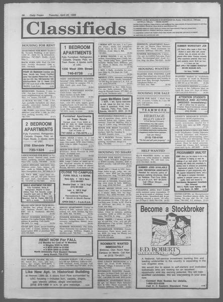 Daily Trojan, Vol. 106, No. 68, April 26, 1988