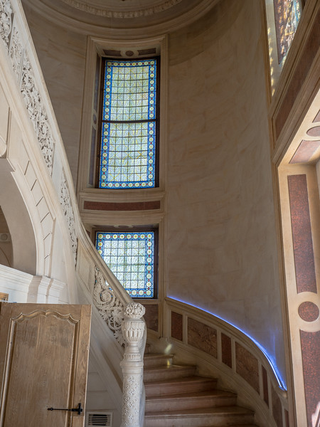Up the spiral stairs at Château Sainte Sabine